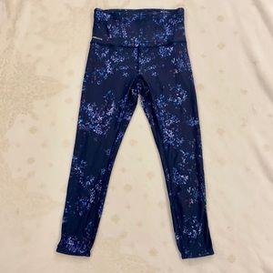 Lolë, Blue Capris with Floral Prints, Size XS